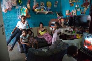 Torre David Caracas: A family inside their apartment