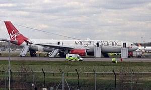Emergency landing at Gatwick Airport