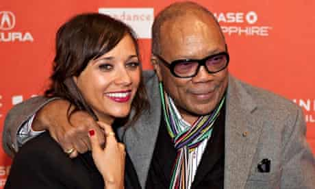 Rashida Jones and her father Quincy Jones