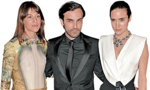 Charlotte Gainsbourg, Nicholas Ghesquiere and Jennifer Connelly