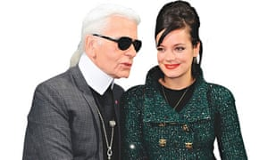 Karl Lagerfeld with Lily Allen