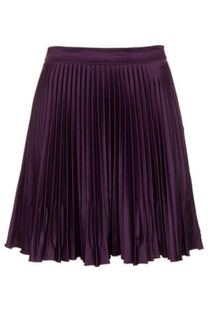 Pleated skirts: Purple pleated skirt