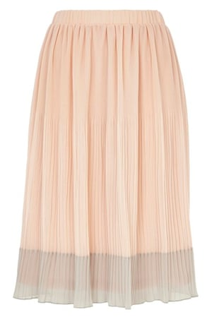 Pleated skirts: Peach pleated skirt