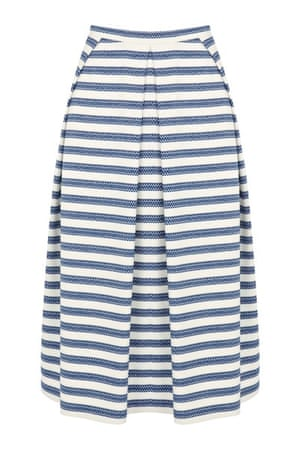 Pleated skirts: Striped pleated skirt