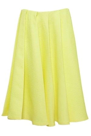 Pleated skirts: Yellow pleated Skirt