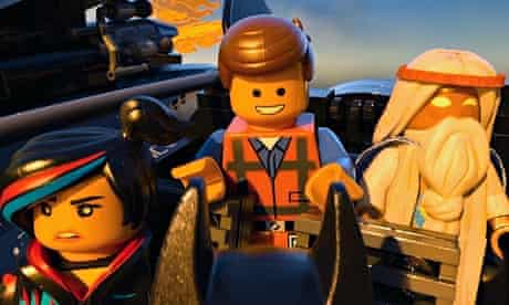 Wyldstyle, Emmet and Vitruvius in The Lego Movie