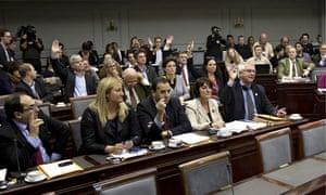 Belgium senate members vote on euthanasia for minors