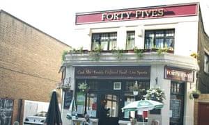 Punch Taverns pub on Mile End Road