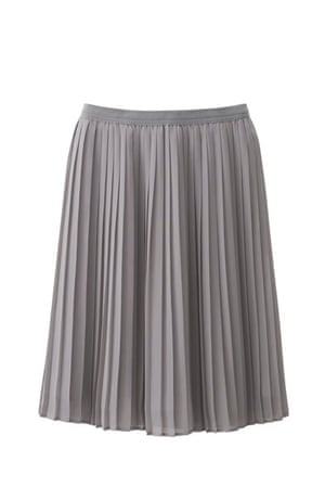 Pleated Skirt: Grey pleated skirt