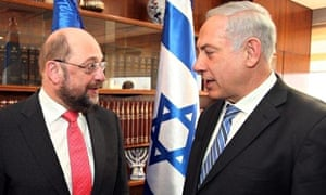 Martin Schulz and Binyamin Netanyahu
