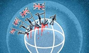 Matt Kenyon illustration on British military action