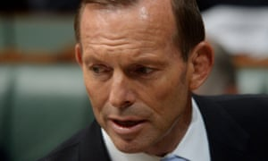 #politicslive  Prime Minister Tony Abbott speaks during question time in the House of Representatives at Parliament House in Canberra, Thursday, Feb. 13, 2014. (AAP Image for the Guardian/Lukas Coch) NO ARCHIVING Politics Political Politician Politicians