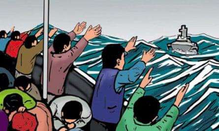 Asylum seekers comic