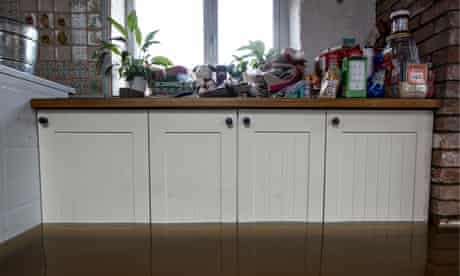 Steve Wilton's flooded kitchen