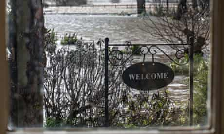 The Wiltons' flooded garden