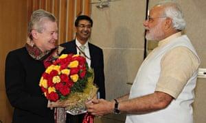 Narendra Modi and Nancy Powell