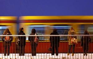 Top 10 trains: Berlin passengers wait for S-Bahn commuter train