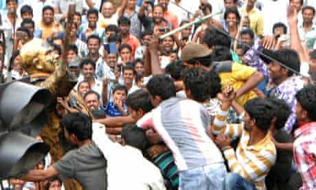 INDIA-POLITICS-TELANGANA-PROTESTS