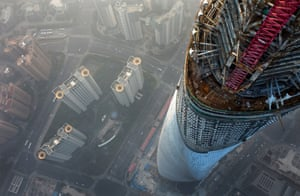 A view from the top of the Shanghai tower.