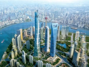 The Shanghai Tower will dominate the skyline when completed.