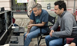 Grant Heslov with George Clooney on The Monuments Men set