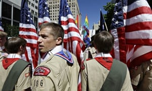 Gay pride parade in Seattle