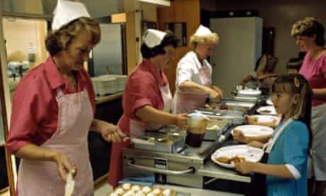 school dinner ladies