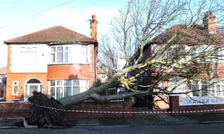 The aftermath of the storm in Manchester