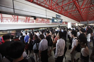 Top 10 trains: Commuters take the train during morning peak hour in Singapore