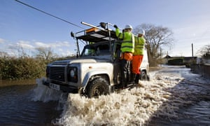 Environment agency workers take a ride o