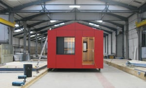 Factory-made … Roger Stirk Harbour + Partners' Y:Cube house for the YMCA is produced for just £30,000.