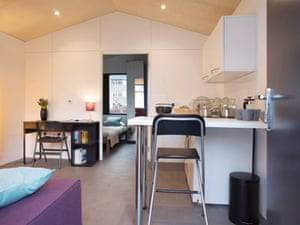 The units come complete with double bedroom, en suite bathroom and a separate kitchen/living room.