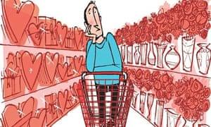 Shopping for love illustration
