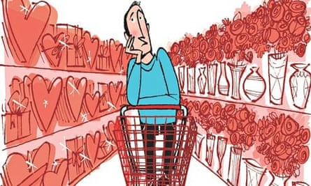 Shopping for love illustration