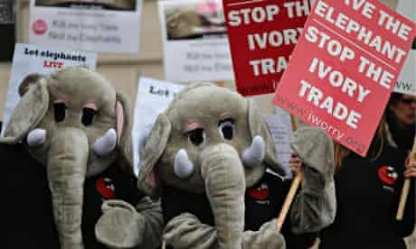 Anti-ivory trade demonstartion, London 13 February