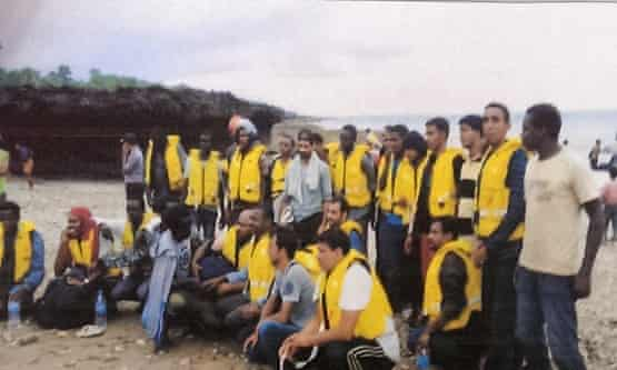 Asylum seekers pictured in an Indonesian navy report