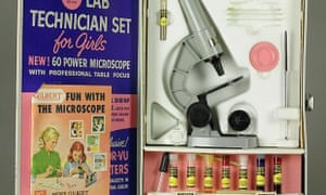 "Toy microscope set ""for girls"", 1958"
