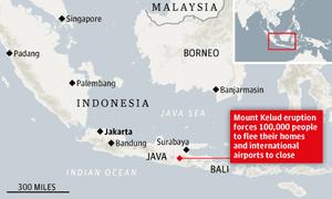 Indonesia volcano map