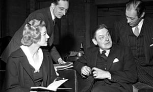 TS Eliot, second from right, discussing The Cocktail Party