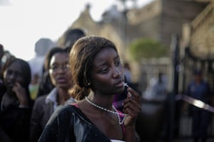 This picture by German photographer Markus Schreiber, The Associated Press (AP) won 1st Prize in People Observed Portraits Singles category of the 57th World Press Photo Contest, it was announced by the organizers in Amsterdam, The Netherlands, 14 February 2014. It shows a woman reacting in disappointment after access to see former South Africa President Nelson Mandela was closed on the third and final days of his casket lying in state, outside Union Buildings in Pretoria, South Africa.