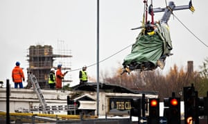 Clutha helicopter wreckage