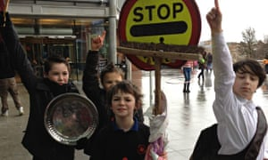 Boys from Catton Grove Primary School take part in One Billion Rising today
