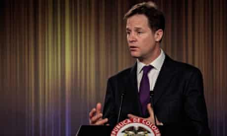 Nick Clegg in Bogota