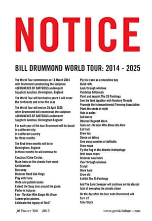 Bill Drummond World Tour poster