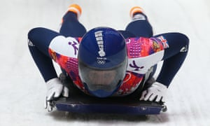 Lizzy Yarnold of Great Britain competes in the women's skeleton.