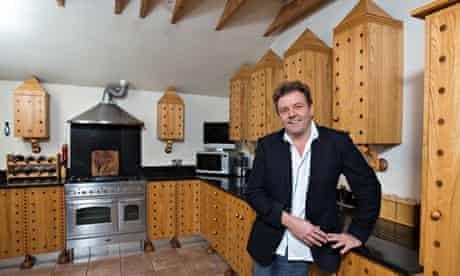 Martin Roberts in his kitchen