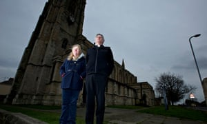 The Rev Graeme Buttery and his wife, Gillian, outside St Oswald's parish church in Hartlepool