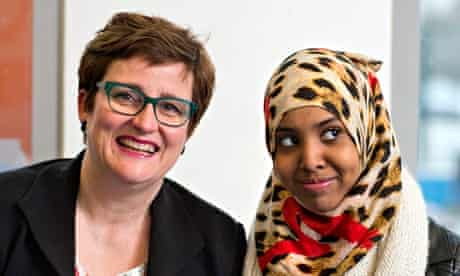 Gill Kelly with Fahma Mohamed