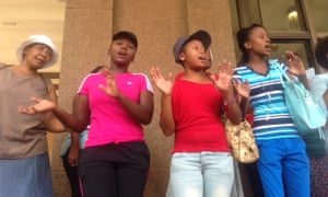 A One Billion Rising event in Johannesburg, South Africa, 14 February 2014.