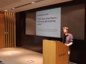 Andy Sykes speaking at London DevOps